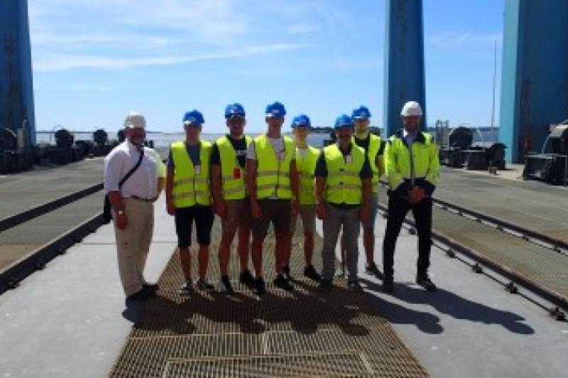 Midshipmen practice in Sweden